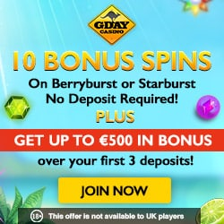 10 Bonus Spins ND