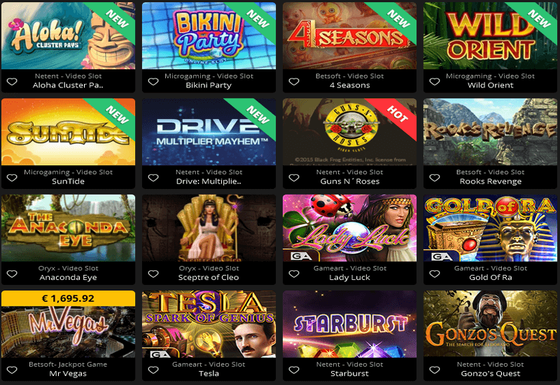 Adrenaline Casino Games