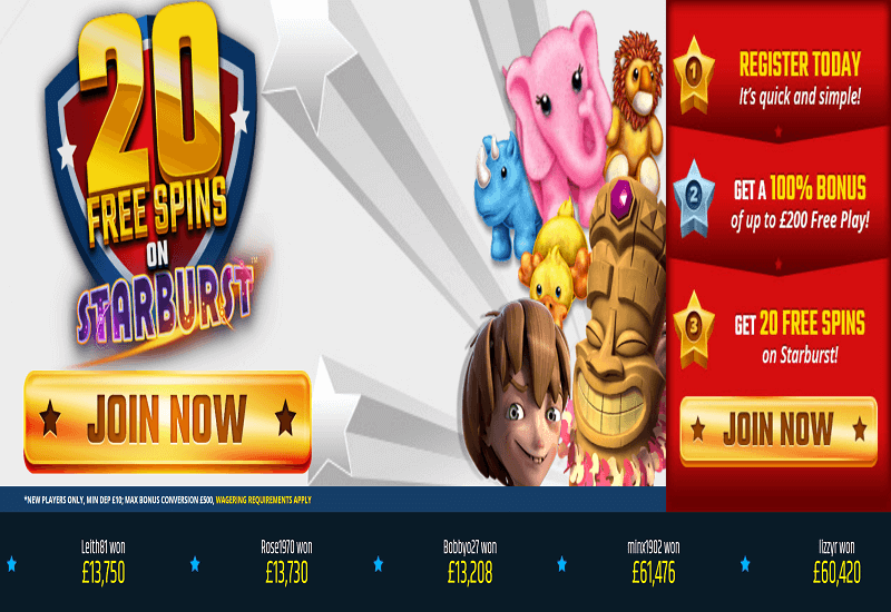 All Star Games Casino Home Page