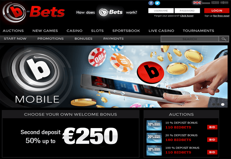 b-Bets Casino Home