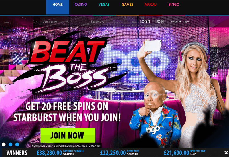 BGO Casino Home
