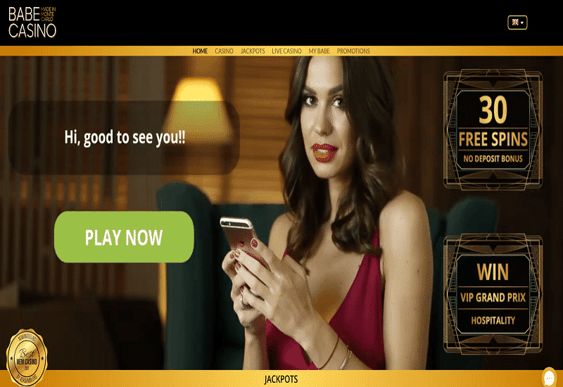 Bebe Casino Home Page
