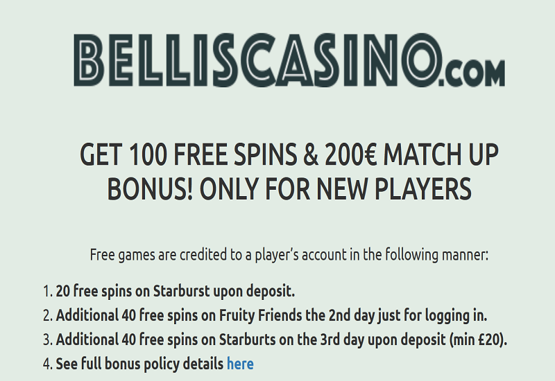 SBellis Casino Promotion