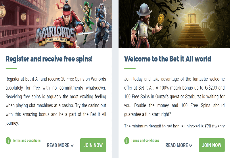 Bet It All Casino Promotion
