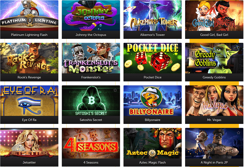 Bitcoin.com Casino Video Slots