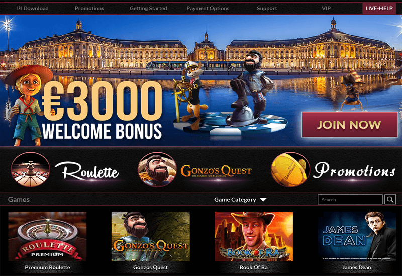 Casino Bordeaux Home Page