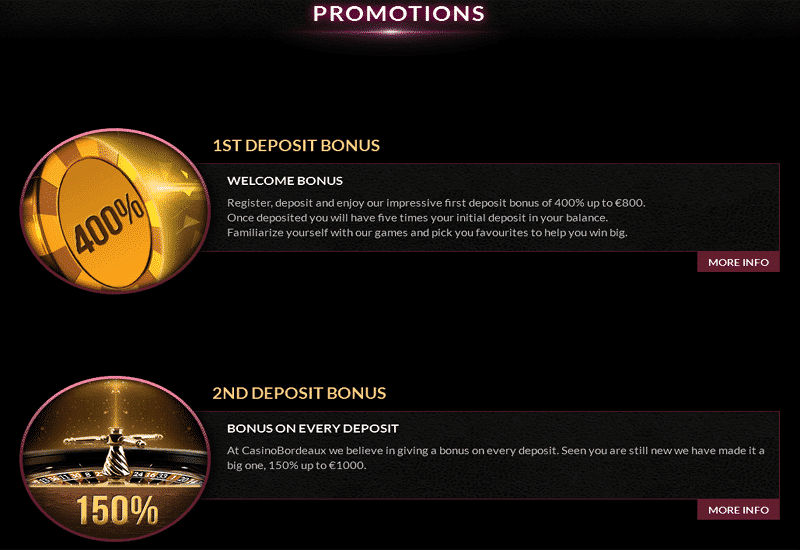 Casino Bordeaux Promotions