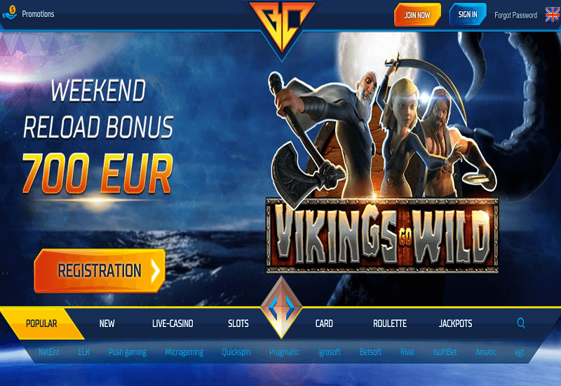 Buran Casino Home Page
