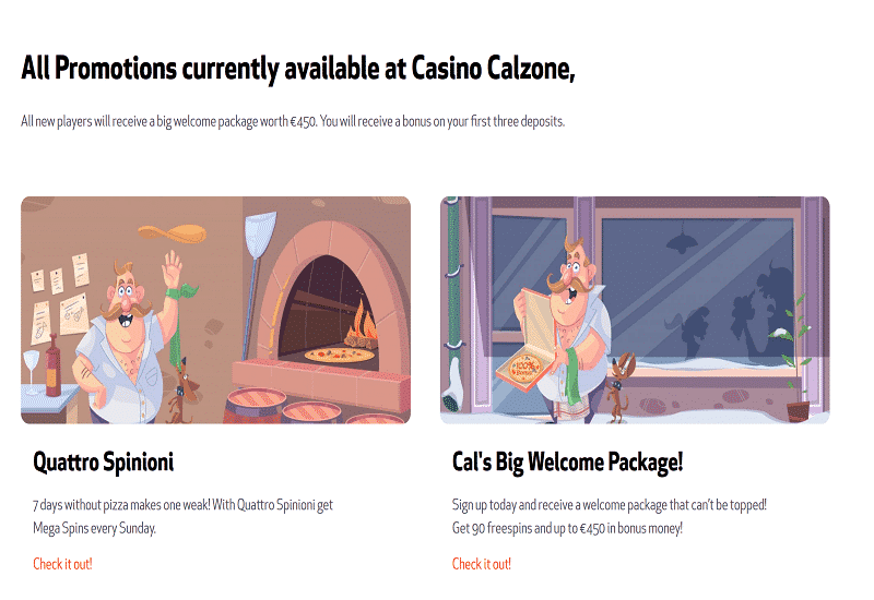 Casino Calzone Promotion