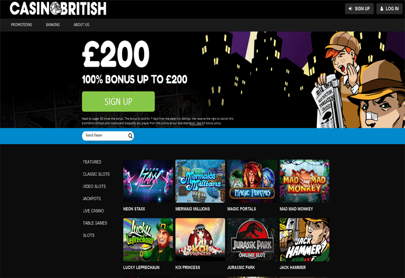 Casino British Home Page