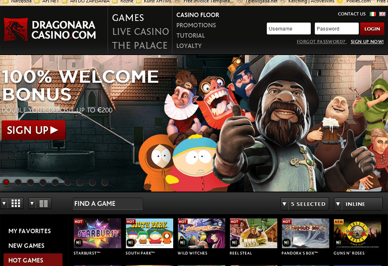 Dragonara Casino Home Page