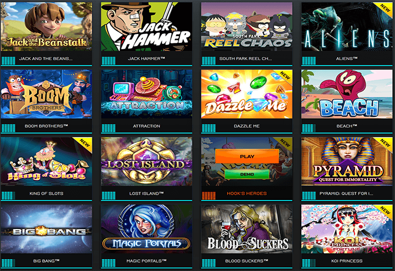 Drift Casino Video Slots