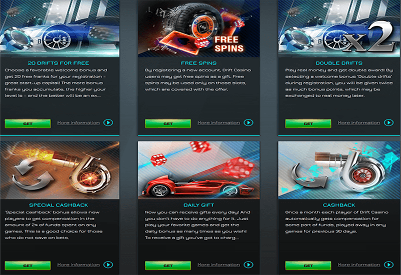 Drift Casino Promotion