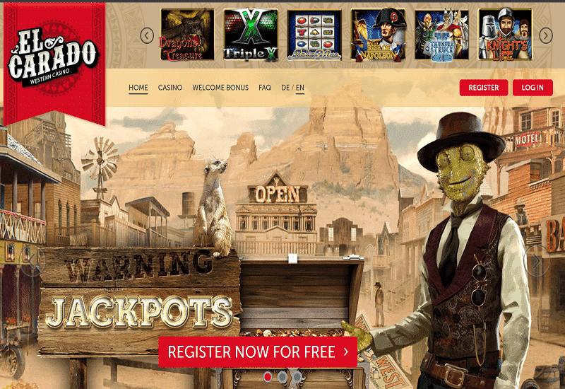 El Cardo Casino Home Page