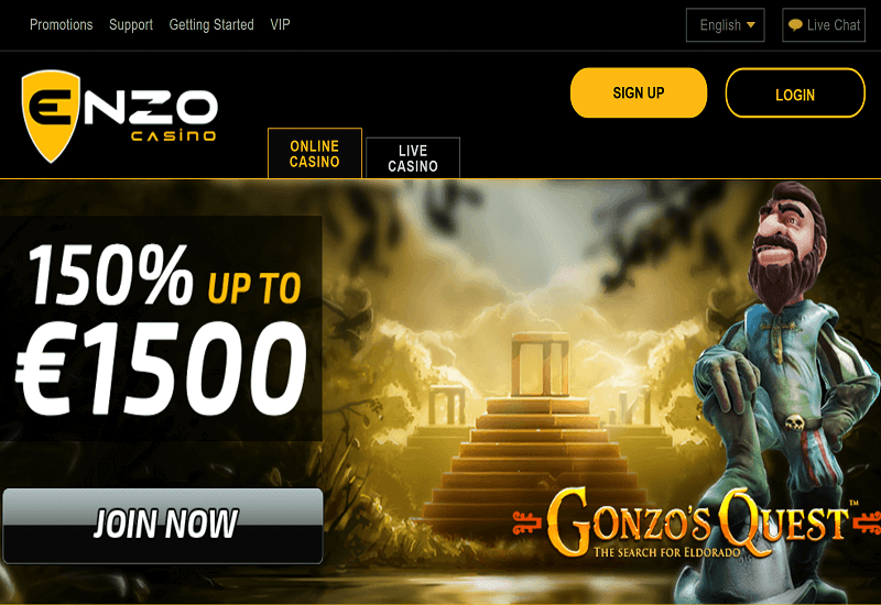 Enzo Casino Home Page