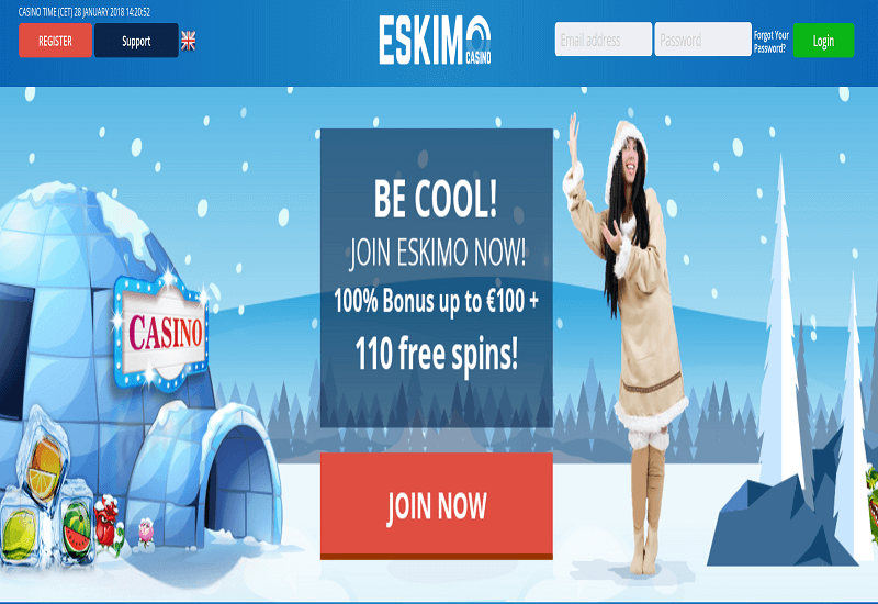 Eskimo Casino Home Page