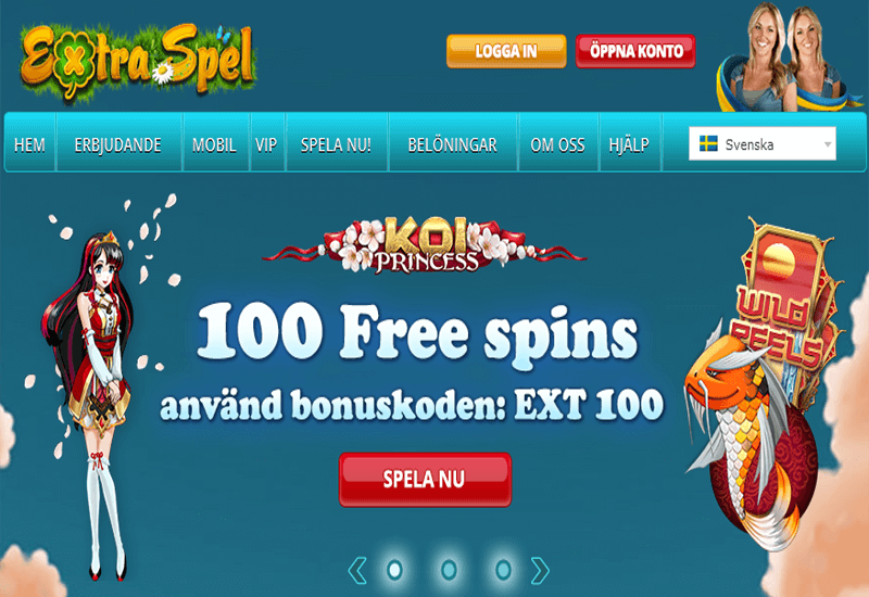 Extra Spel Casino Home Page