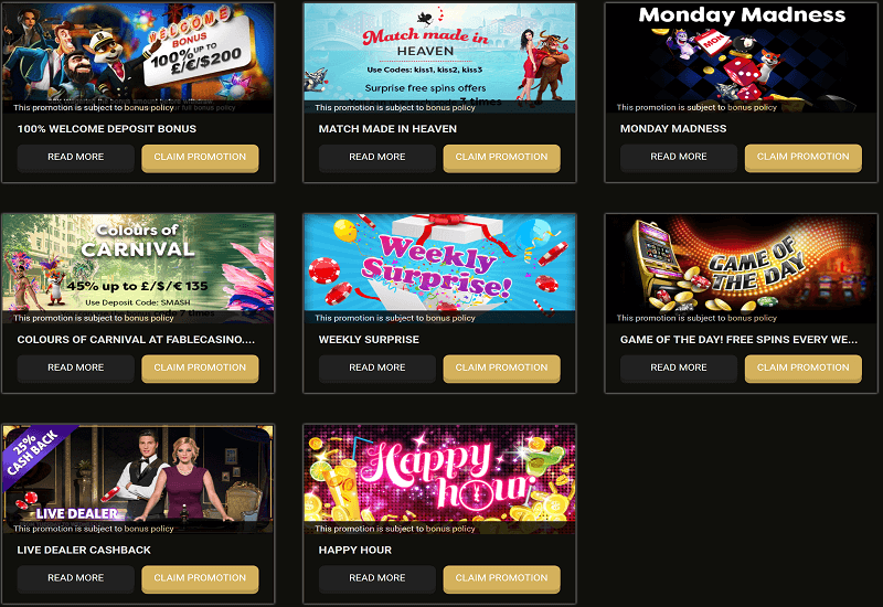 Fable Casino Promotion