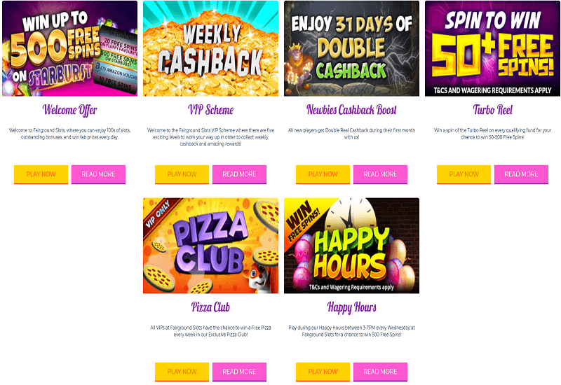 Fairground Slots Casino Promotion