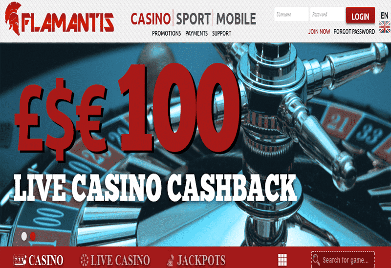 Flamantis Casino Home Page