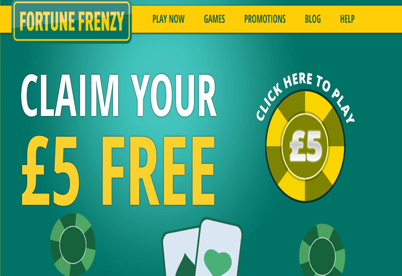 Fortune Frenzy Casino Home Page