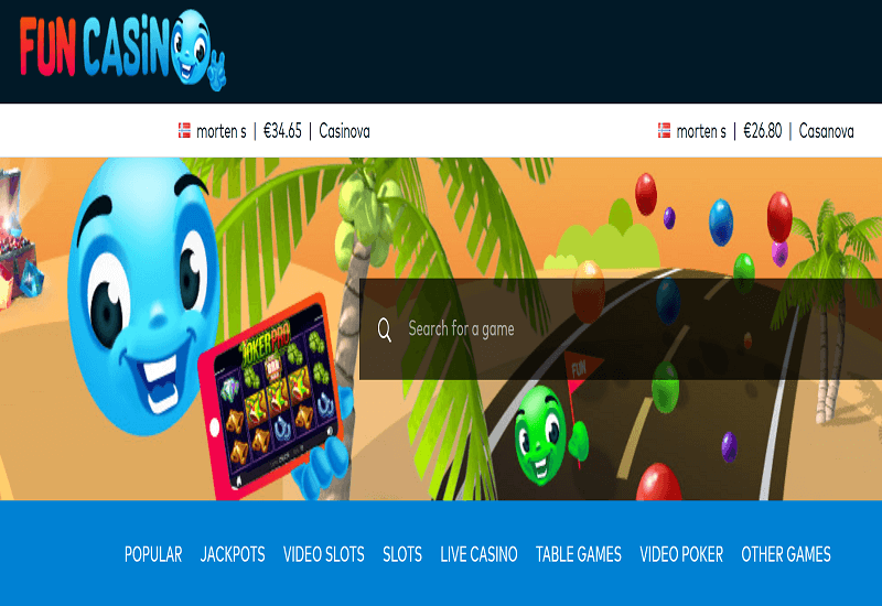 Fun Casino Home Page