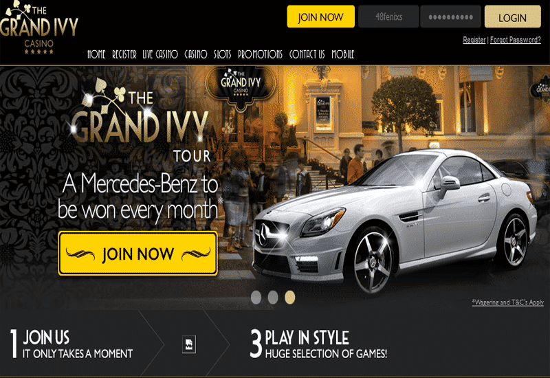 The Grand Ivy Casino Home Page