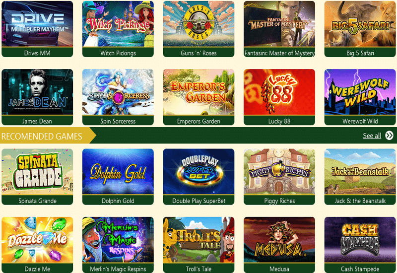 Green Dog Casino Video Slots