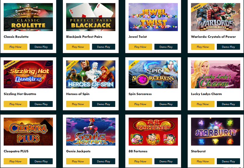 Grosvenor Casino Video Slots