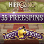 35 Free Spins on Piggy Riches at Hippozino