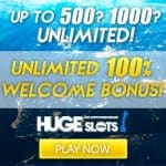 50 Free Spins – No Deposit, only at Huge Slots