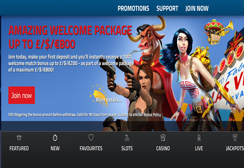 Jackpot Paradise Casino Home Page