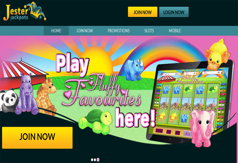 Jester Jackpots Casino Home Page