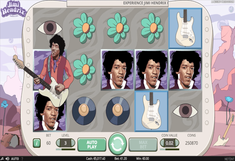 Jimi Hendrix NetEnt Video Slots