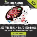 Joker Casino Bonus And  Review News Promotions