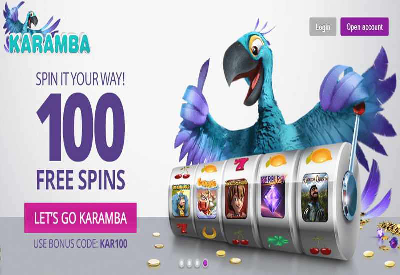Karamba Casino Home Page