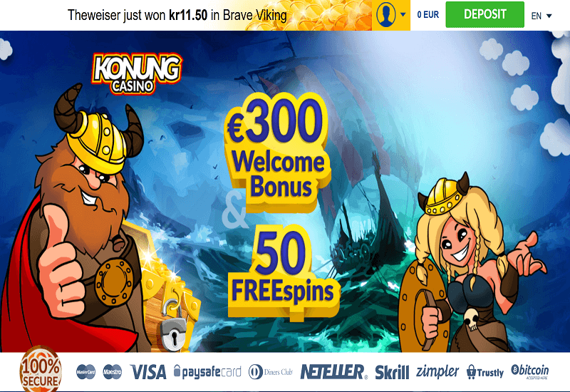 Konung Casino Home Page