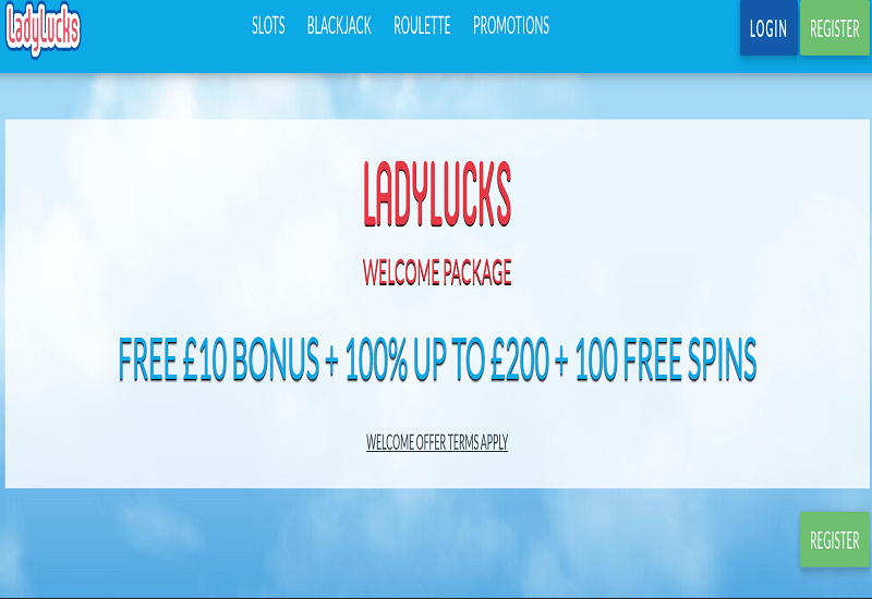 Lady lucks Casino Home Page