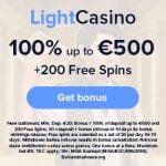 Light Casino Bonus And  Review  Promotions