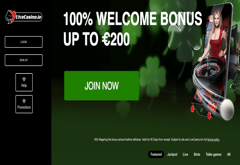 Live Casino Home Page