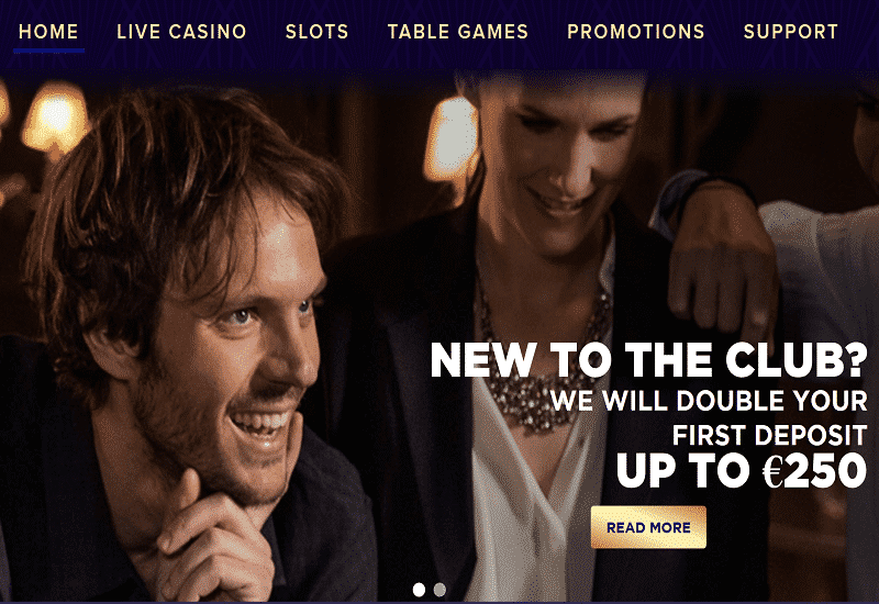 Live Lounge Casino Home Page