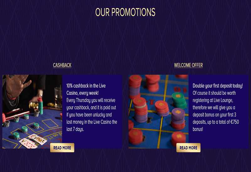 Live Lounge Casino Promotion