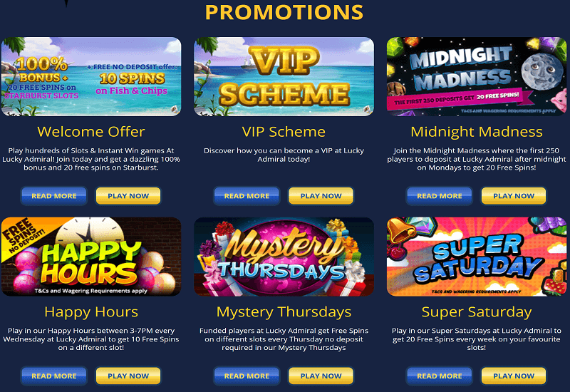 Lucky Admiral Casino Promotion