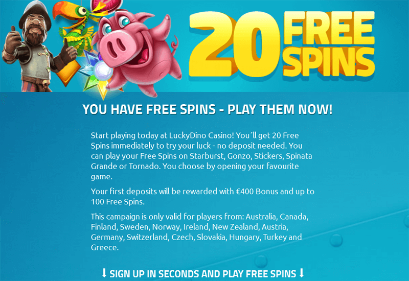 Lucky Dino Casino Promotions
