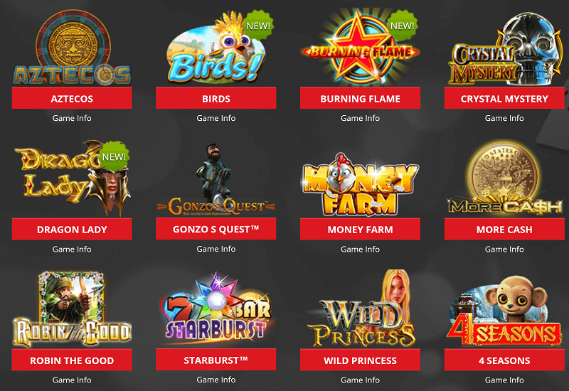 Lucky Star Casino Video Slots