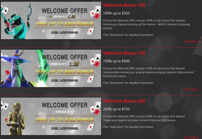 Lucky Star Casino Promotion
