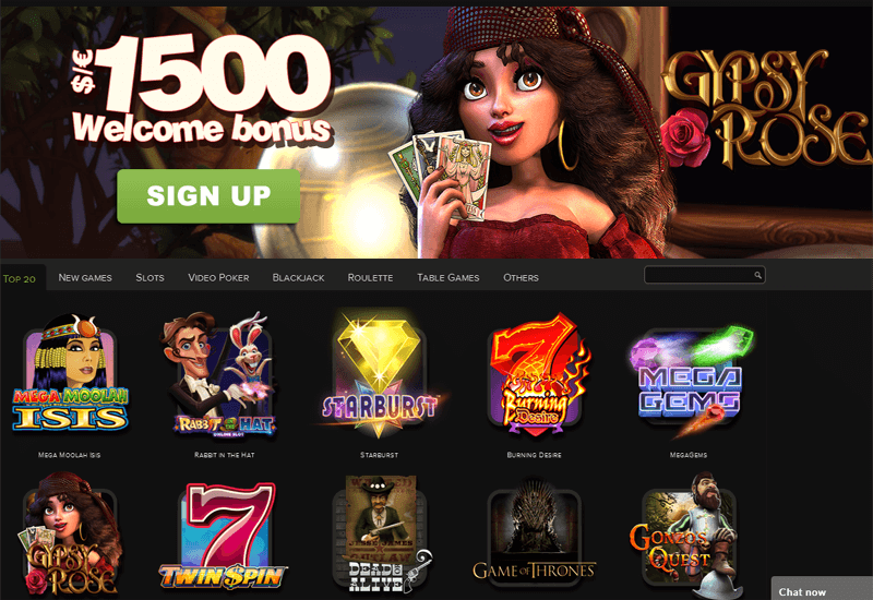 Mad Slots Casino Home Page