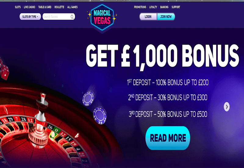 Magical Vegas Casino Home Page