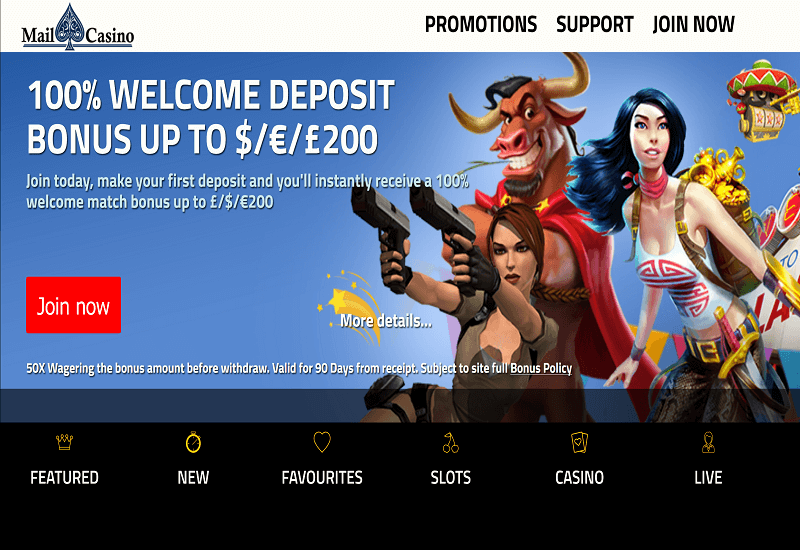 Mail Casino Home Page