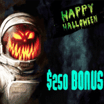 $250 Bonus – Happy Halloween from Mars Casino